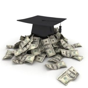 mortar board on cash bills