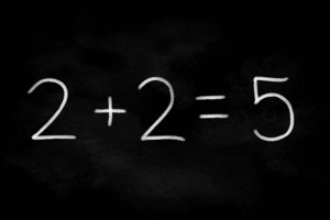 numbers don't add up 2+2=5