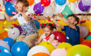 children balloons celebrate