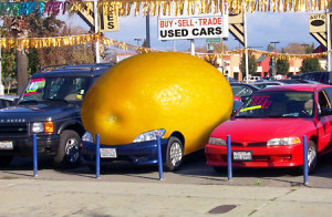 lemon car on lot