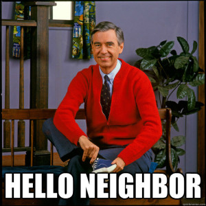 mr rogers hello neighbor