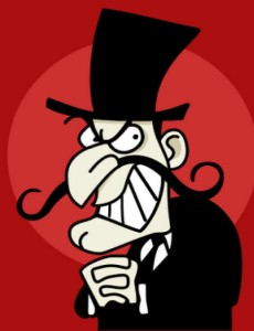 snidely whiplash villain
